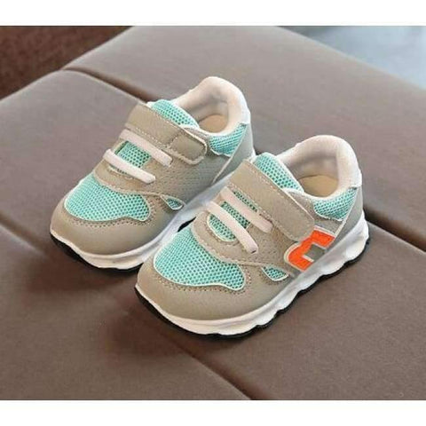 Image of Planet Gates Green / 11 Hook^Loop fashion patch baby toddlers casual breathable light baby first walkers Cute solid light baby sneakers shoes