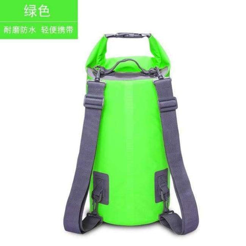 Planet Gates Green 15L Swimming Waterproof Bags Storage Dry Sack Bag For Canoe Kayak Rafting Outdoor Sport Bags Travel Kit Equipment
