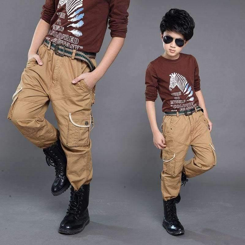 Planet Gates Green / 6 Boys Cargo Pants Spring High Quality Teenage Boy Clothing Kids Pants Boy Trousers Children Cotton Pants Size 5 7 9 13 Year
