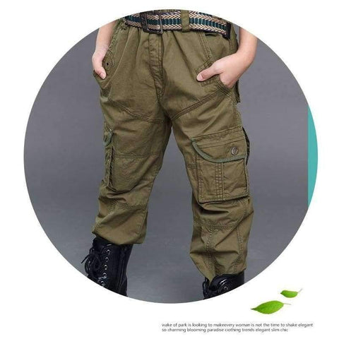 Image of Planet Gates Green / 6 Boys Cargo Pants Spring High Quality Teenage Boy Clothing Kids Pants Boy Trousers Children Cotton Pants Size 5 7 9 13 Year