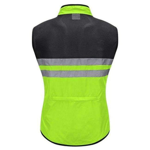 Image of Planet Gates Green / L WOSAWE High Visibility Cycling Vest Safety Reflective Vest Night Riding Protect Jacket Pocket Breathable Motorcycle Bicycle Vest