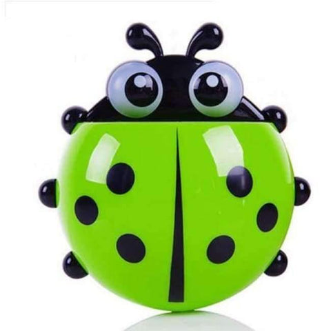 Image of Planet Gates green ladybug Bathroom Products Sets Cartoon Ladybug Snails Toothbrush Toothpaste Holder Wall Sucker Suction Hook Tooth Brush Holder