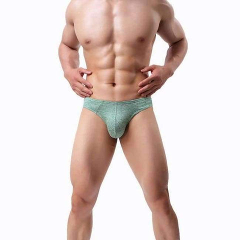 Planet Gates Green / S LASPERAL 1PC Solid Breathable Men Briefs U Convex Panties Underpants Underwear Sexy Thin Breathable Men Mid Waist Underwear