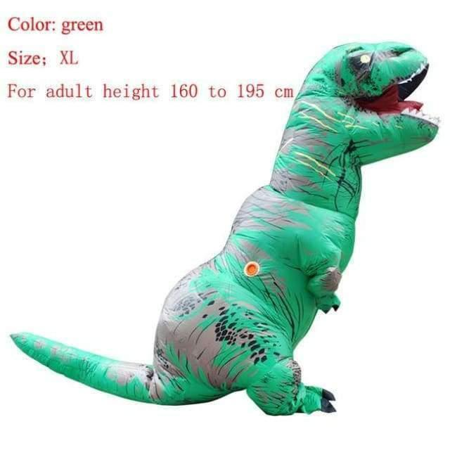Planet Gates green size XL / T REX Adult  T-REX Inflatable Costume Christmas Cosplay Dinosaur Animal Jumpsuit Halloween Costume for Women Men