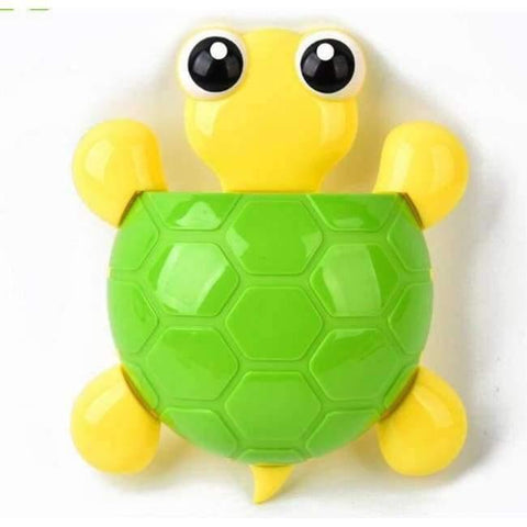Bild vun Planet Gates gréng Schildkröt Bad Boxprodukter Sets Cartoon Ladybug Snails Zahnputz Zahnpasta Holder Wand Sauger Suction Hook Tooth Pinsel Halter