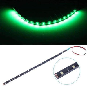 White Yellow Red Blue Green 15 SMD 30CM 2835 LED Strip Light Flexibel Car Decor Motor Laden Motorrad Dekoratioun