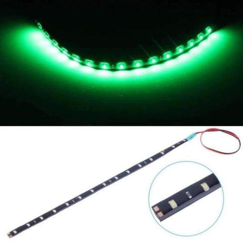 Planet Gates Green White Yellow Red Blue Green 15 SMD 30CM 2835 LED Strip Light Flexibel Car Decor Motor Laden Motorrad Dekoratioun