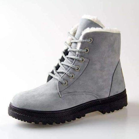 Planet Gates Grey / 4.5 Fashion warm snow boots 2018 heels winter boots new arrival women ankle boots women shoes warm fur plush Insole shoes woman