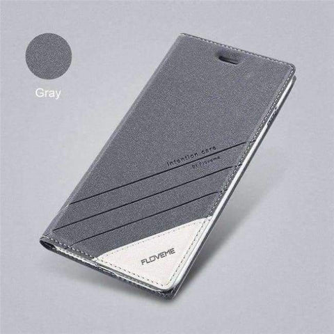 Planet Gates grey / 5 5s SE Kaso Para sa iPhone 5 5S SE iPhone 8 Kaso Luxury Brand Flip Card Slot Katad Coque Cover ng Telepono Para sa iPhone X 7 6 6S Kaso