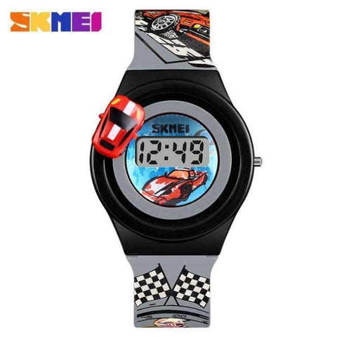 Planet Gates Grey SKMEI 1376 Children Cartoon Creative Digital Watches Kids Fashion Car Outdoor Wristwatches For Boys Girls Student Casual Watch