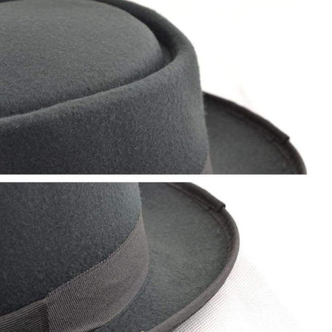 Image of Planet Gates Hats New Felt Pork Pie Crushable Hat BREAKING BAD Hat Walter BLACK