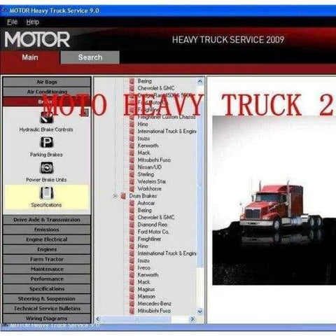 Planet Gates heavy truck service MOTOR  manuals v13 + crack for unlimited install similar as mitchell heavy truck diagnostic software