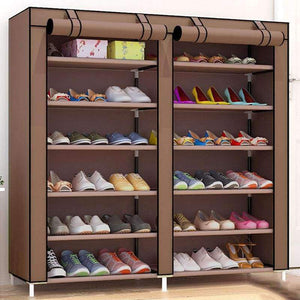 Planet Gates HH341900CS1 / China Large Capacity Shoes Storage Cabinet Double Rows Shoes Organizer Rack Home Furniture DIY Dust-proof Shoes Shelves Space Saver