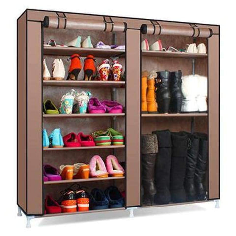 Planet Gates HH341900CS8 / China Large Capacity Shoes Storage Cabinet Double Rows Shoes Organizer Rack Home Furniture DIY Dust-proof Shoes Shelves Space Saver