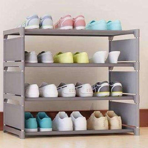 Planet Gates HH342700CS3 / China Four Layers Non-woven Cloth Simple Shoe Rack Multi-purpose Shoe Cabinet Books Shelf Toy Plants Storage Shelf Organizer Furniture