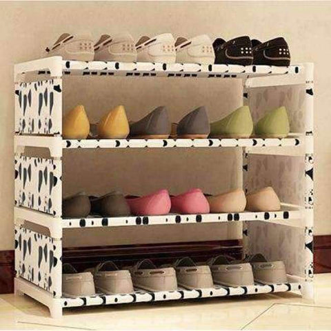 Planet Gates HH342700CS4 / China Four Layers Non-woven Cloth Simple Shoe Rack Multi-purpose Shoe Cabinet Books Shelf Toy Plants Storage Shelf Organizer Furniture