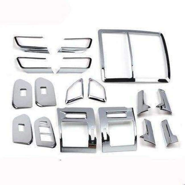 Planet Gates Highlight  Silver 1 For Toyota Land Cruiser 150 Prado LC150 FJ150 2010-2017 Interior Moulding Trim Cover Chrome Package Car Styling Accessories
