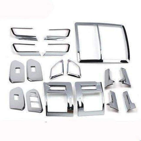 Image of Planet Gates Highlight  Silver 1 For Toyota Land Cruiser 150 Prado LC150 FJ150 2010-2017 Interior Moulding Trim Cover Chrome Package Car Styling Accessories