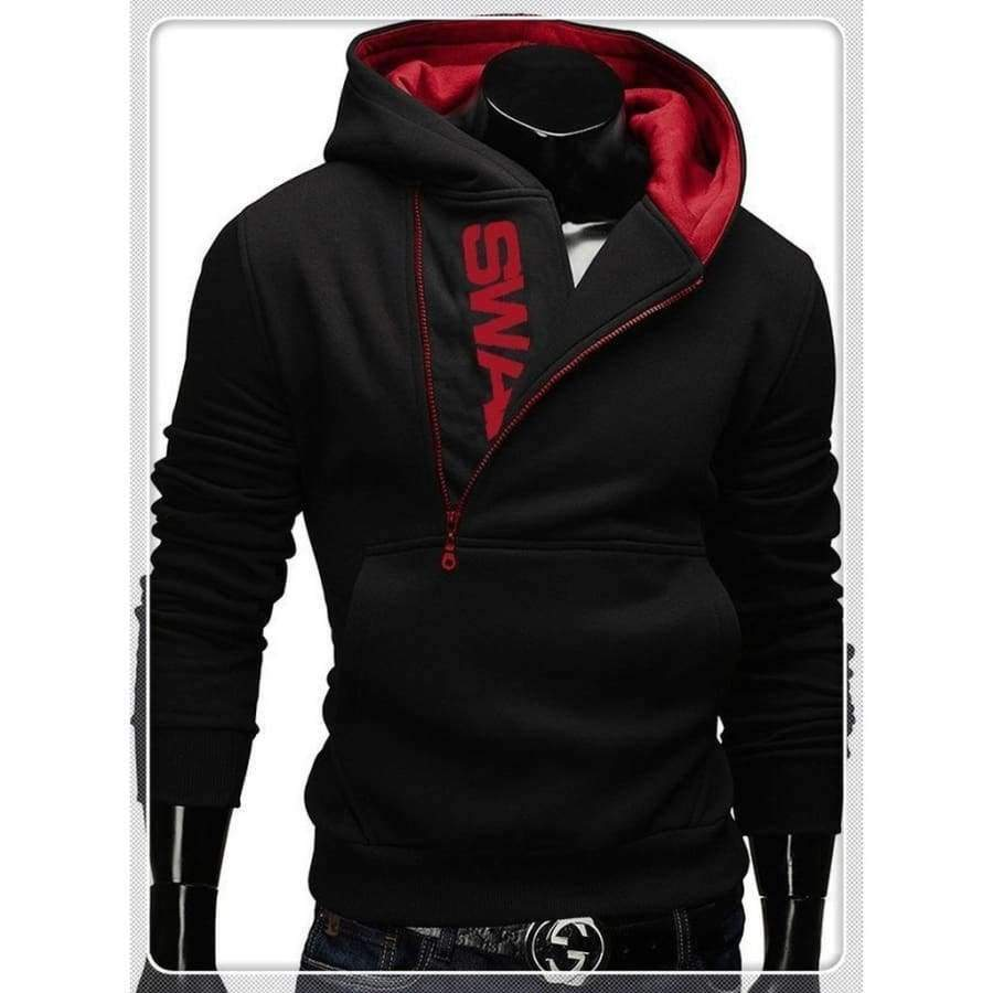 Planet Gates Hoodies Black & Blue / XS Quality Cotton Uk Size XS-3XL Hot Sale New Men's Winter Warm Collar Cap Men's Clothing Hoodies Tracksuit Men Fashion Hoodies 5 C