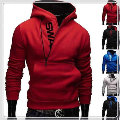 Image of Planet Gates Hoodies Black & Blue / XS Quality Cotton Uk Size XS-3XL Hot Sale New Men's Winter Warm Collar Cap Men's Clothing Hoodies Tracksuit Men Fashion Hoodies 5 C