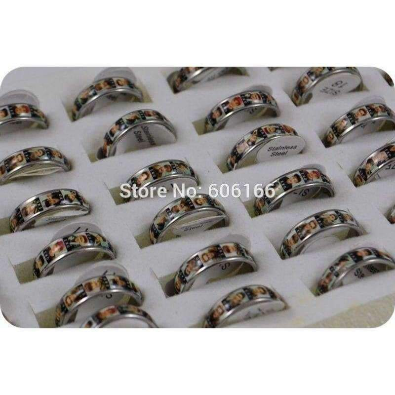 Planet Gates HOT 36x EXO Band member Korean S.M.Entertainment Company Stainless Steel Finger Ring Fashion Jewelry Wholesale