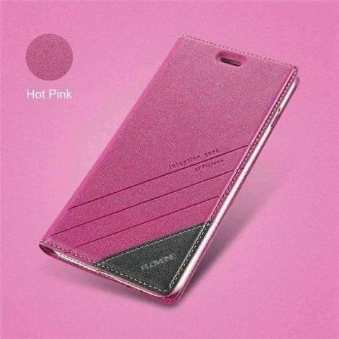 Image of Case For iPhone 5 5S SE iPhone 8 Case Luxus Marke Flip Card Slot Leather Coque Phone Cover fir iPhone X 7 6 6S Case
