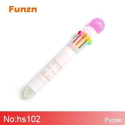 Planet Gates hs102-purple 0.5 mm 10 colors creative ballpoint pens for writing Chancellery simple office school supplies ball pen