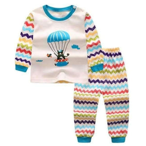Cartoon Shirt+pants 2pcs Children's Clothing Set Outfit Toddler Baby Boys Long Sleeves Set 12m-5t For Autumn