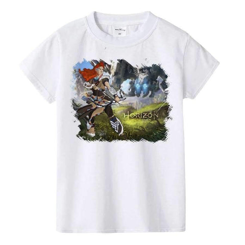 Image of Planet Gates K901-KSTWH- / 10T Kids T Shirt Machine and Aloy Children T-shirt Boys Girls Tshirt Teens Game Tops Tees Teenage Boys Clothing