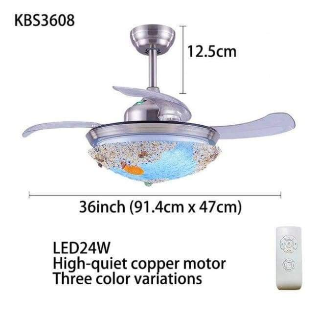 Planet Gates KBS3608 TRAZOS 2018 New Ceiling Fan For Living Room Ventilador de techo Ceiling fans with Lights 36 Inch Tiffany Cooling Fan Fixtures