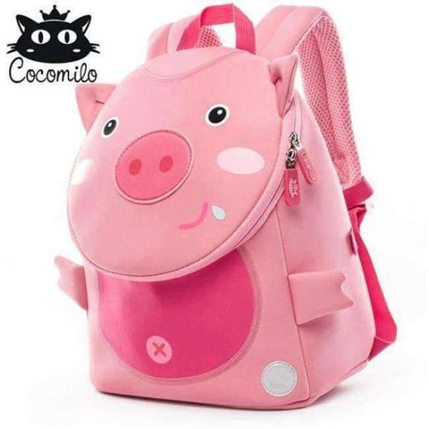 Planet Gates KZ101 Cocomilo Cute Animal Pattern School Bags Baby Kids Small Bag For Girls Boys Cartoon Children Anti-lost Bag Kindergarten Backpack