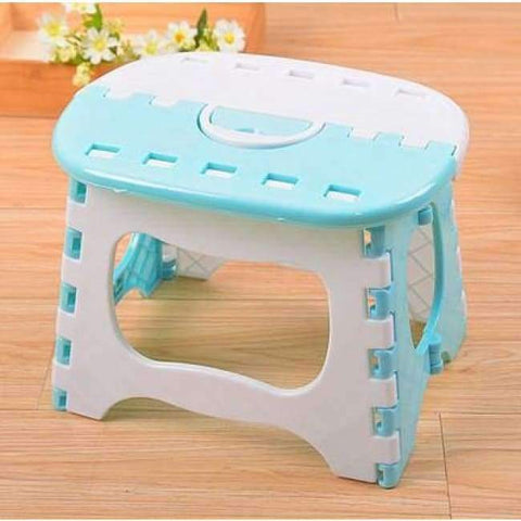 Planet Gates Light Blue Plastic Folding Stool Bright Blue Stools Para Children Step Ottoman Home Furniture For Kid Sitting Picnic Stools