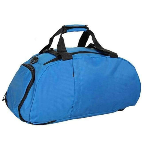 Planet Gates Light Blue Portable Sports Gym Backpack Shoulder Bag Separated Shoes Storage Travel Backpack Men And Women Outdoor Fitness Bag