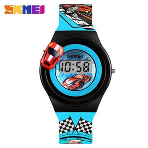 SKMEI 1376 Children Cartoon Creative Digital Watches Kids Fashion Car Outdoor Wristwatches For Boys Girls Student Casual Watch