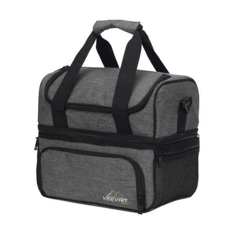 Planet Gates Light Gray VEEVANV Insulated Lunch Cooler Bags For Food Family Function Waterproof Picnic Large Storage Shoulder Bag Tote Messenger Bags