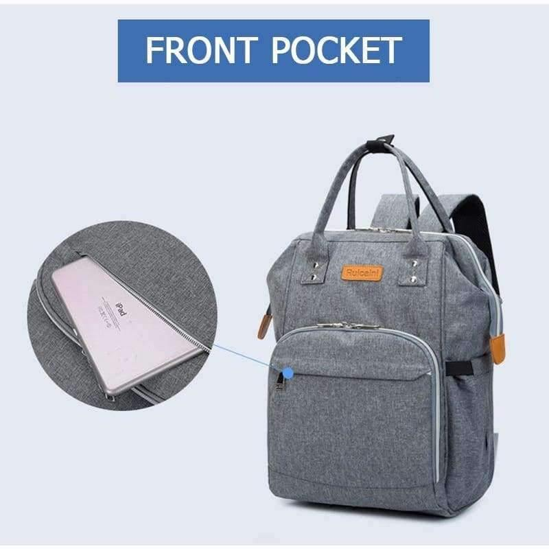 Planet Gates Light grey Diaper Bag and Insulation Bags Fashion Maternity Mummy Backpack Nappy Changing Organizer Waterproof Baby Care Bags
