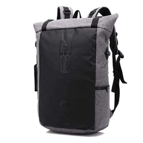 Planet Gates Light Grey Ozuko New Multi-functional Casual Men Backpacks Travel Mochila Shoulder Bag Creative Male Waterproof Laptop Backpack School Bags