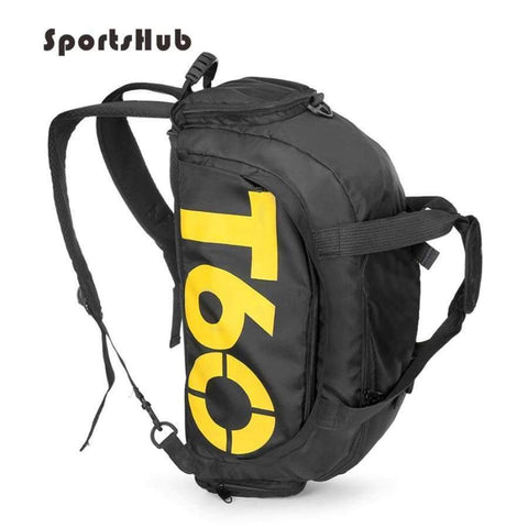 Planet Gates Light Yellow Multi-use Men Sports Bags Gym Backpack Shoulder Bag Separated Shoes Storage Fitness Bag Outdoor Travel Bagpack SB0014