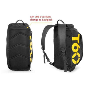 Multi-use Men Sports Bags Gym Backpack Shoulder Bag Separated Shoes Storage Fitness Bag Outdoor Travel Bagpack SB0014