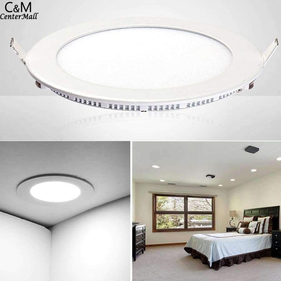 Planet Gates Lights Dimmable Round Recessed LED Ceiling Ultra-thin for Home Commercial Lights
