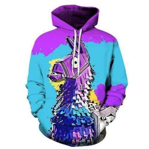 Planet Gates LMS909 / 4XL Fortnite Llama Hoodies 3D Men's Hoodie Print Streetwear Sweatshirt Pullover Casual Tracksuit Male Clothes Drop Ship ZOOTOP BEAR