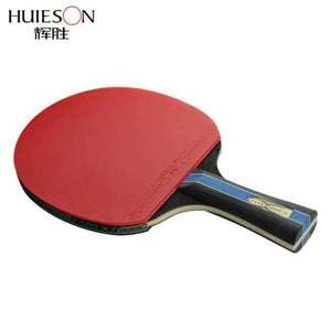 Short or Long Handle Shake-hand Table Tennis Set Red and Black Table Tennis Paddle Table Tennis Racket with Case