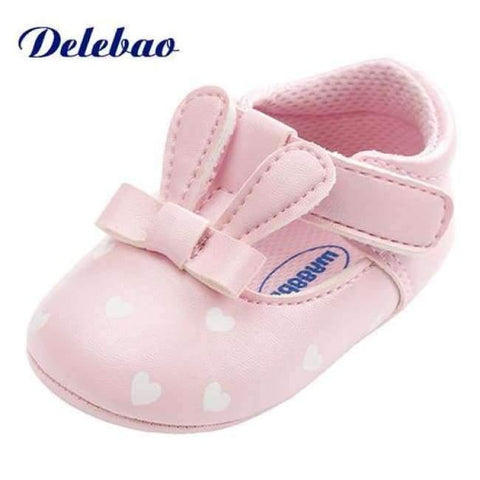 Image of Pink Polka Dot Cotton Soft Sole Baby Shoes Lace-up Spring/Autumn First Walkers Newborn Infant Toddler Crib Girl Shoes Wholesale