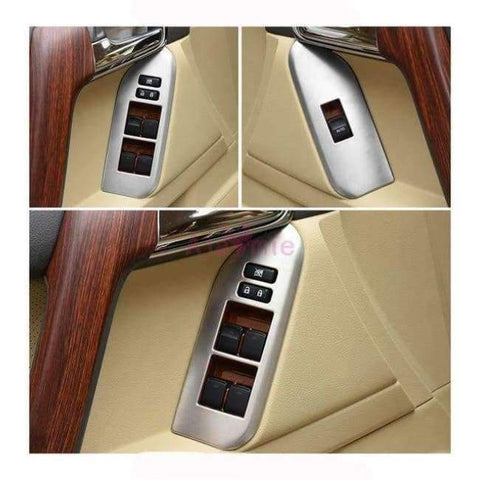 Image of Planet Gates Matt silver color For Toyota Land Cruiser 150 Prado LC150 FJ150 2010-2017 Interior Moulding Trim Cover Chrome Package Car Styling Accessories