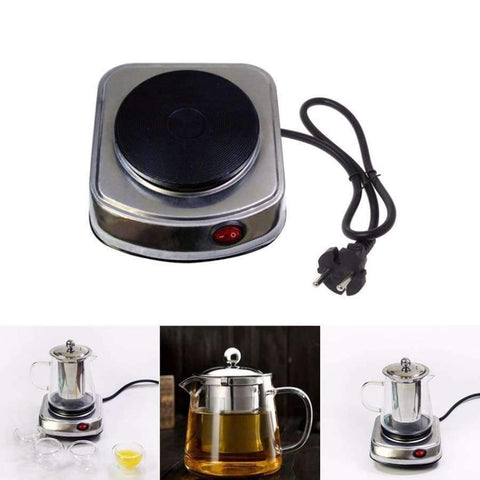 Planet Gates MEXI Mini Portable Electric Stove Coffee Heater Plate 500W Multifunctional Home Appliance Kit
