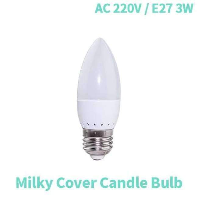 Planet Gates Milky Cover E27 3W / 20LEDs / Warm White LED Light E27 Lamp E14 LED Bulb Corn 20 30 46 81 100 LEDs Lampada SMD5730 220V Corn Bulb Chandelier Candle Spotlight Home Decor