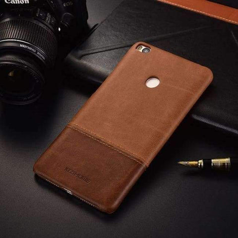 Planet Gates miMAX2 brown / For max2 Vintage genuine leather back cover case For xiaomi mi max 2 3 phone cases and covers miMAX2 shell