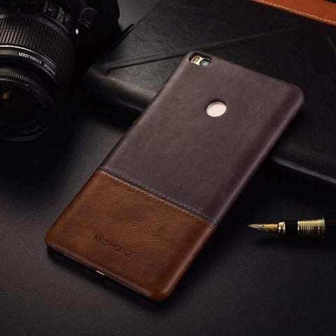 Planet Gates miMAX2 coffee / For max2 Vintage genuine leather back cover case For xiaomi mi max 2 3 phone cases and covers miMAX2 shell