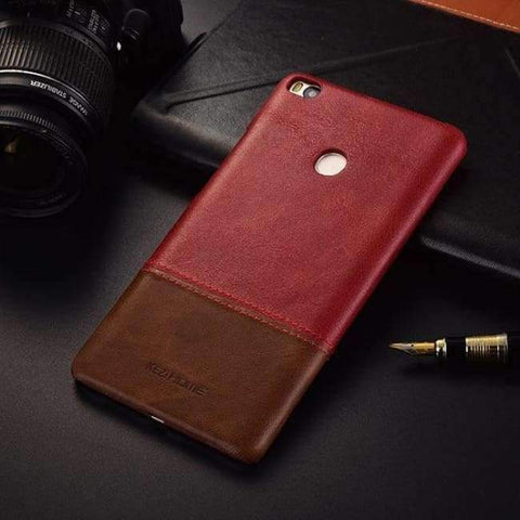 Planet Gates miMAX2 red wine / For max2 Vintage genuine leather back cover case For xiaomi mi max 2 3 phone cases and covers miMAX2 shell