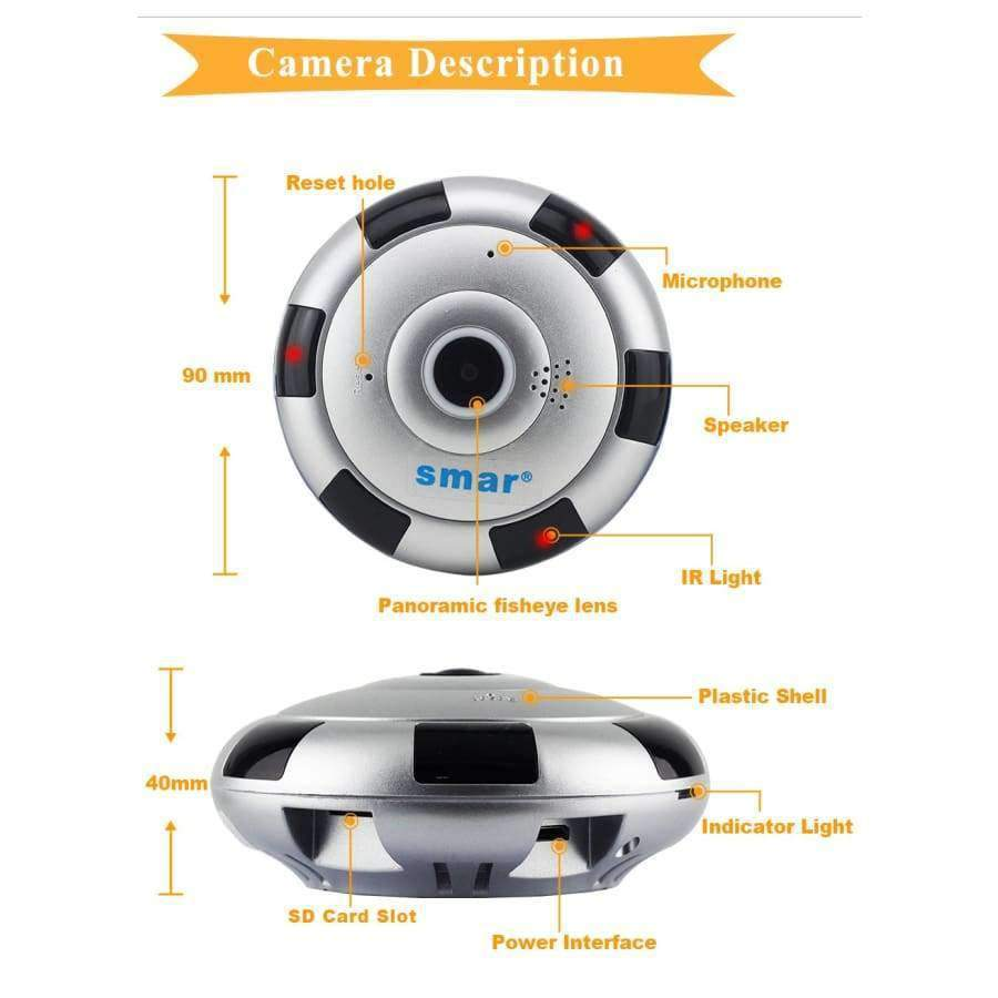 9ee156dca2160 Planet Gates Mini VR IP Camera Wireless 960P HD Smart 360 Degree Panoramic  Network CCTV Security. Tap to expand